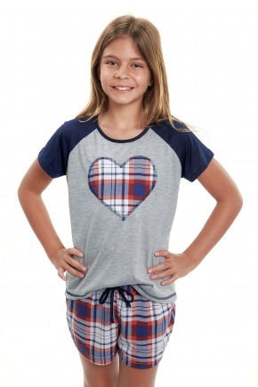 pijama de menina xadrez feminino infantil xadrez vermelho 3