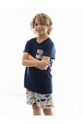 pijama de dinossauro infantil masculino mania pijamas