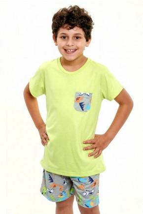 pijama de dinossauros coloridos infantil masculino curto 6