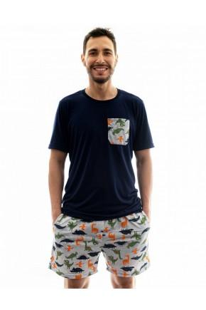pijama masculino dinossauro adulto de malha mania pijamas 5