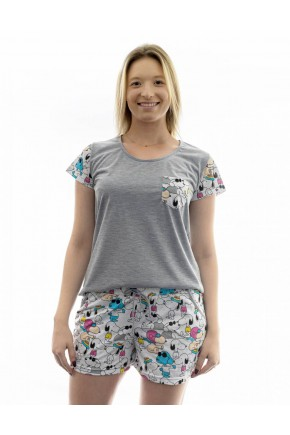 pijama feminino curto snoopy short doll 1