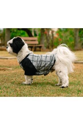 pijama para cachorro chumbo grid xadrez roupa para cachorro 2