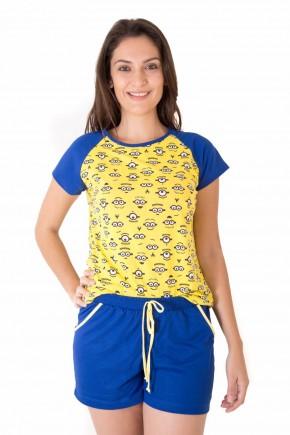 pijama feminino curto com shorts minions 5
