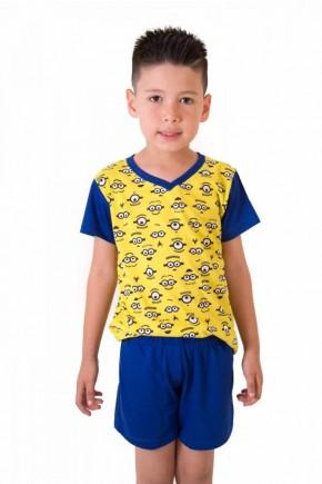 pijama dos minions infantil masculino 4