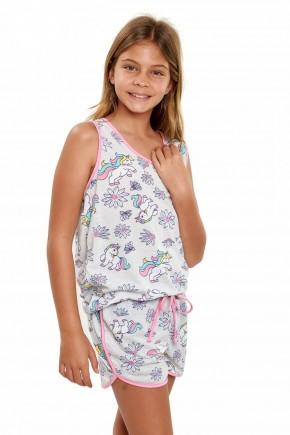 pijama de unicornio infantil menina regata 2