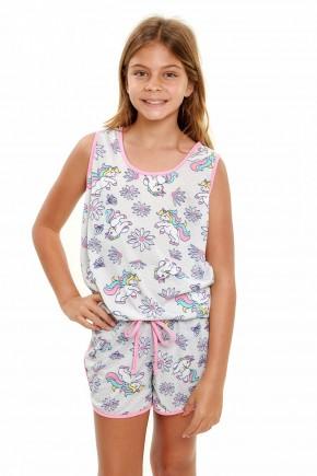 pijama de unicornio infantil menina regata 4