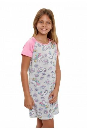 camisola de unicornio feminina infantil menina manga curta 5