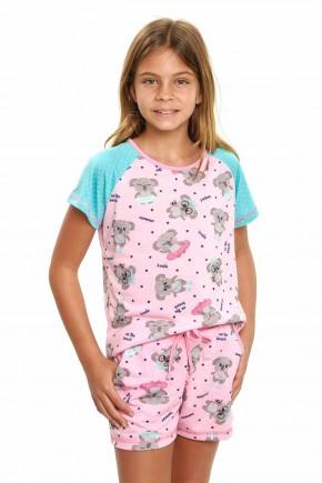 pijama de coala infantil menina curto 4