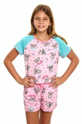 pijama de coala infantil menina curto 6