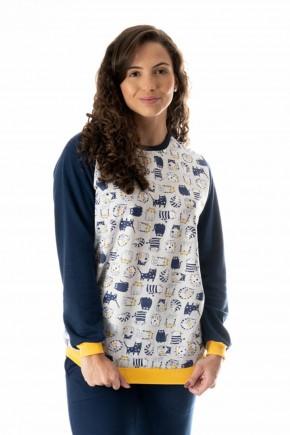 pijama flanelado feminino gatinhos 2