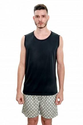 pijama regata masculino adulto verao com samba cancao com bolsos 6